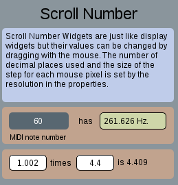 scroll number